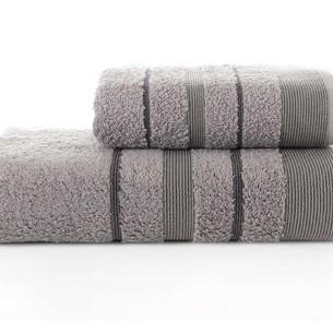 Набор полотенец для ванной Karna REGAL SET хлопковая махра серый