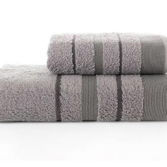 Набор полотенец для ванной Karna REGAL SET хлопковая махра (серый)