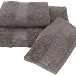 Набор полотенец для ванной в подарочной упаковке 32х50 3 шт. Soft Cotton DELUXE хлопковая махра коричневый