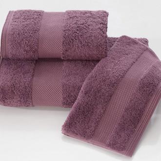 Набор полотенец для ванной в подарочной упаковке 32*50(3) Soft Cotton DELUXE хлопковая махра (лиловый)