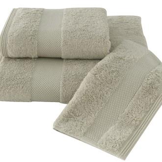 Набор полотенец для ванной в подарочной упаковке 32*50(3) Soft Cotton DELUXE хлопковая махра (светло-бежевый)