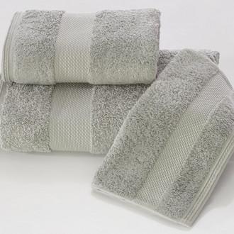 Набор полотенец для ванной в подарочной упаковке 32*50 3 шт. Soft Cotton DELUXE хлопковая махра серый