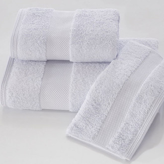 Набор полотенец для ванной в подарочной упаковке 32х50 3 шт. Soft Cotton DELUXE хлопковая махра светло-голубой