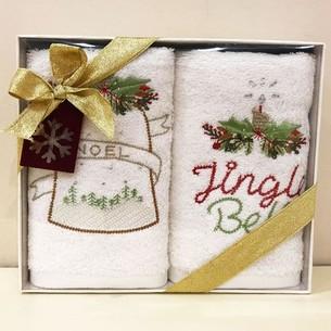 Набор полотенец в подарочной упаковке 30х50 2 шт. Tivolyo Home BELL хлопковая махра