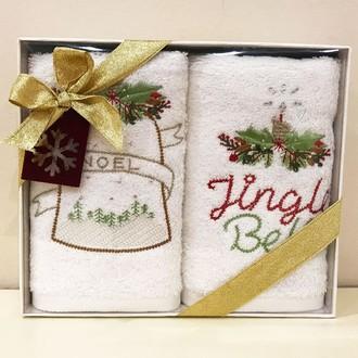 Набор полотенец в подарочной упаковке 30*50(2) Tivolyo Home BELL хлопковая махра