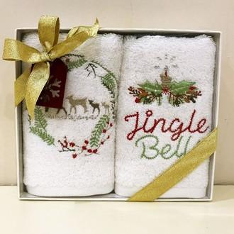 Набор полотенец в подарочной упаковке 30*50(2) Tivolyo Home DEER хлопковая махра