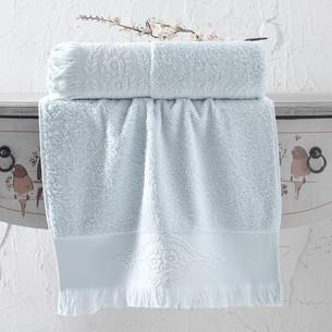 Полотенце для ванной Karna DIVA хлопковая махра ментол 50х90