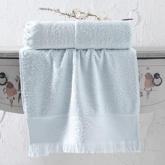 Полотенце для ванной Karna DIVA хлопковая махра (ментол)