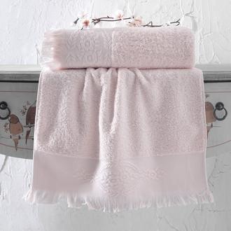 Полотенце для ванной Karna DIVA хлопковая махра (абрикосовый)