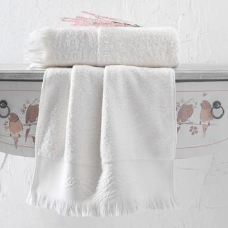 Полотенце для ванной Karna DIVA хлопковая махра (кремовый)