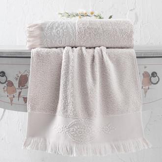 Полотенце для ванной Karna DIVA хлопковая махра (бежевый)