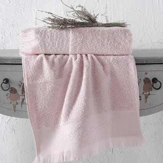 Полотенце для ванной Karna DIVA хлопковая махра пудра