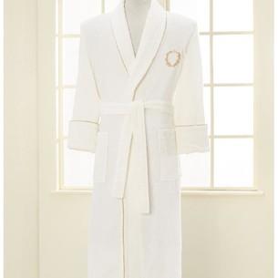 Халат мужской Soft Cotton SEHZADE хлопковая махра экрю XL