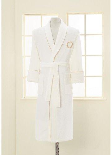 Халат мужской Soft Cotton SEHZADE хлопковая махра экрю XL, фото, фотография