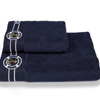 Набор полотенец для ванной 2 пр. Soft Cotton MARINE хлопковая махра (синий)