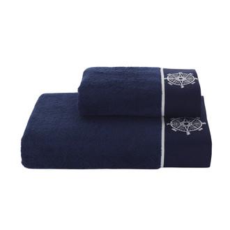 Набор полотенец для ванной 2 пр. Soft Cotton MARINE LADY хлопковая махра (синий)