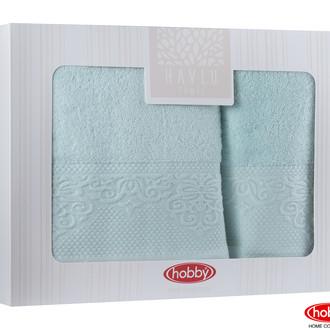 Подарочный набор полотенец для ванной 2 пр. Hobby Home Collection ALICE хлопковая махра минт