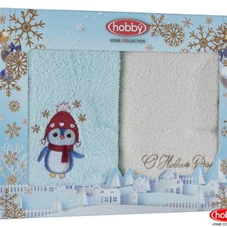 Подарочный набор полотенец для ванной 50*90 2 шт. Hobby Home Collection HAPPY NEW YEAR хлопковая махра A3