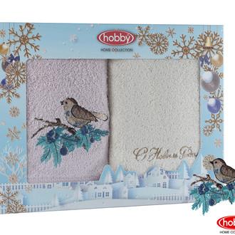 Подарочный набор полотенец для ванной 50х90 2 шт. Hobby Home Collection HAPPY NEW YEAR хлопковая махра A10