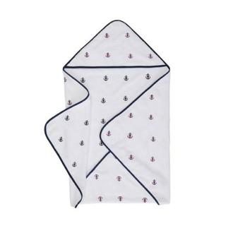 Полотенце-уголок для новорожденных Soft Cotton MARINE хлопковая махра белый