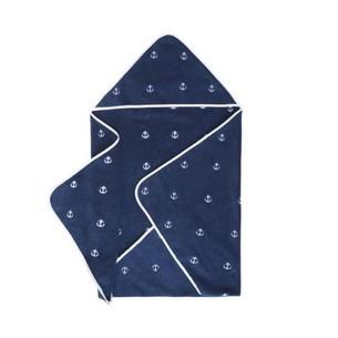 Полотенце-уголок для новорожденных Soft Cotton MARINE хлопковая махра синий 80х80