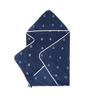 Полотенце-уголок для новорожденных Soft Cotton MARINE хлопковая махра синий