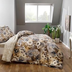 Постельное белье TAC PREMIUM DIGITAL AVALON хлопковый сатин deluxe коричневый 1,5 спальный