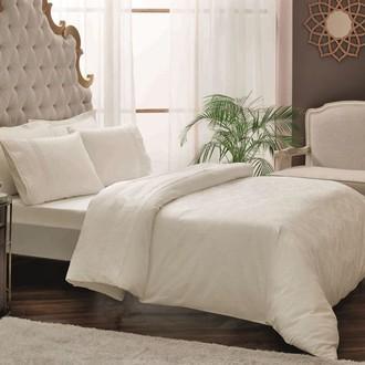Комплект постельного белья TAC LUX COLETTE хлопковый сатин-жаккард делюкс (кремовый)