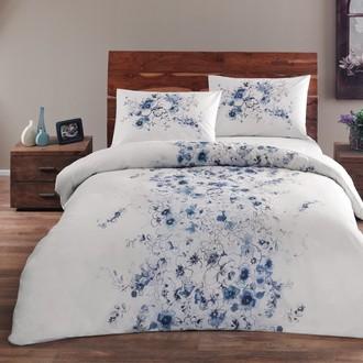 Комплект постельного белья TAC HAPPY DAYS DIVINE хлопковый ранфорс (синий)