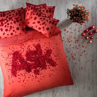 Комплект постельного белья TAC HAPPY DAYS ASK хлопковый ранфорс (красный)