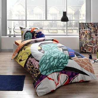 Комплект подросткового постельного белья TAC EASY хлопковый ранфорс зелёный