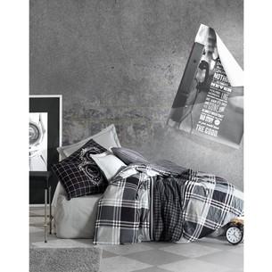 Постельное белье Cotton Box MASCULINE RAMOS хлопковый ранфорс серый евро