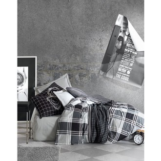 Постельное белье Cotton Box MASCULINE RAMOS хлопковый ранфорс серый