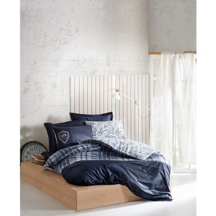 Постельное белье Cotton Box MASCULINE PABLO хлопковый ранфорс синий евро
