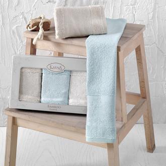 Набор полотенец кухонных в подарочной упаковке 30*50 3 шт. Karna PANDORA махра бамбук V2