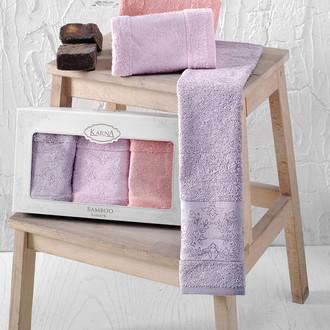 Набор полотенец кухонных в подарочной упаковке 30*50(3) Karna PANDORA махра бамбук (V1)