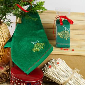 Полотенце в подарочной упаковке Karna NOEL 30*50 хлопковая махра (V9)
