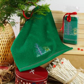 Полотенце в подарочной упаковке Karna NOEL 30*50 хлопковая махра (V7)