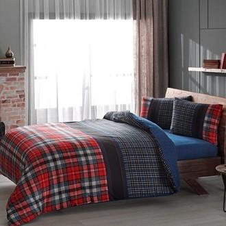 Комплект постельного белья TAC HAPPY DAYS STORM хлопковая фланель (красный)