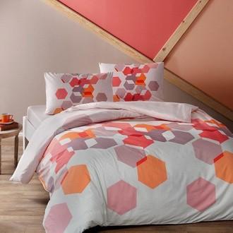 Комплект подросткового постельного белья TAC ARROW хлопковый ранфорс (бирюзовый)