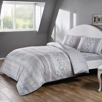 Комплект постельного белья TAC INOVA ION THERAPY SERILDA сатин deluxe (серый)