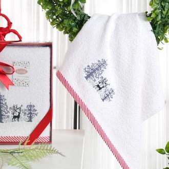 Полотенце для ванной в подарочной упаковке Karna NOEL-2 хлопковая махра V2