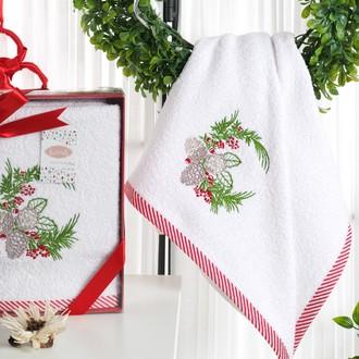 Полотенце для ванной в подарочной упаковке Karna NOEL-2 хлопковая махра (V1)