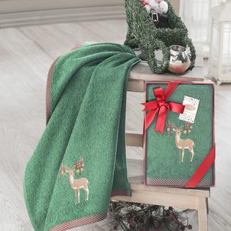 Полотенце для ванной в подарочной упаковке Karna NOEL-2 хлопковая махра V6