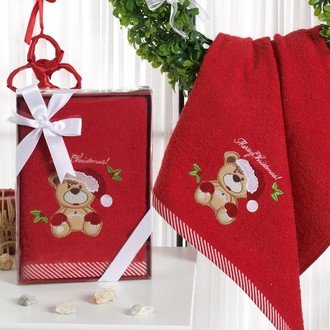Полотенце для ванной в подарочной упаковке Karna NOEL-2 хлопковая махра (V4)