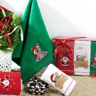 Набор полотенец в подарочной упаковке 30*50(3) Karna NOEL хлопковая махра (V3)