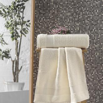Полотенце для ванной Karna MELTEM хлопковая махра (кремовый)