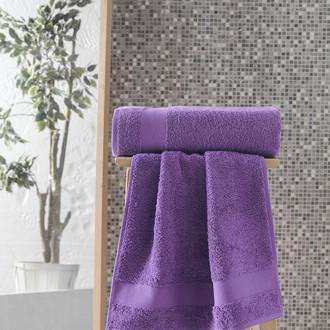 Полотенце для ванной Karna MELTEM хлопковая махра светло-лавандовый