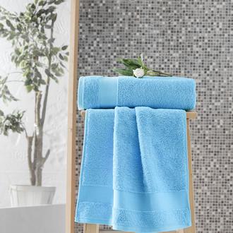 Полотенце для ванной Karna MELTEM хлопковая махра бирюзовый