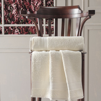 Полотенце для ванной Karna DESTAN хлопковая махра (кремовый)